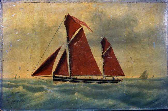 Rising Sun sailing smack